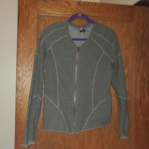 Gray Zip Up Sweater from Urban Outfitters